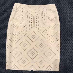 White House Black Market Studded Skirt Size 0